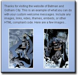 Wordpress Custom Welcome Message
